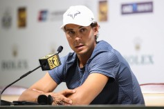 Rafael Nadal of Spain attends a press conference on day three of 2017 ATP Shanghai Rolex Masters at Qizhong Stadium on October 10, 2017 in Shanghai, China. (Oct. 9, 2017 - Source: Lintao Zhang/Getty Images AsiaPac)