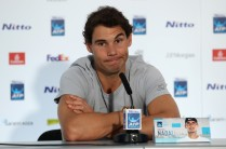 Rafael Nadal of Spain speaks during a press conference prior to the Nitto ATP World Tour Finals at O2 Arena on November 10, 2017 in London, England. (Nov. 9, 2017 - Source: Julian Finney/Getty Images Europe)