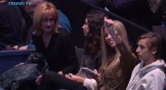 Rafael Nadal girlfriend Maria Francisca Perello, mother Ana Maria Parera and sister Maria Isabel salud the fans at O2 Arena in London 2017 ATP Finals
