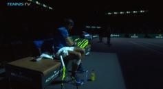 Rafael Nadal knee bothering him 2017 Paris Masters third round against Pablo Cuevas