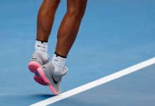 Melbourne (Australia), 21/01/2018.- Rafael Nadal of Spain in action during his fourth round match against Diego Schwartzman of Argentina at the Australian Open Grand Slam tennis tournament in Melbourne, Australia, 21 January 2018. (España, Abierto, Tenis) EFE/EPA/MAST IRHAM