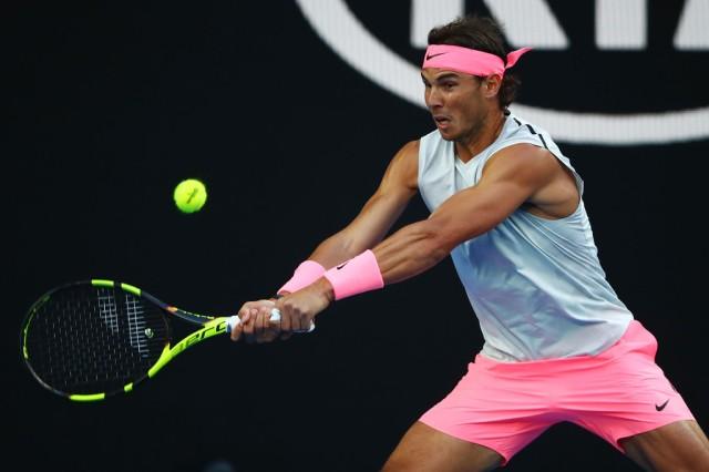 Rafael Nadal 2018 Australian Open Nike Outfit sleeveless top pink shorts  shoes bandana – Rafael Nadal Fans c5ae1d24d60