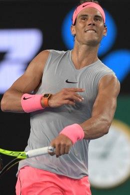 EPA5914. MELBOURNE (AUSTRALIA), 19/01/2018.- El tenista español Rafael Nadal celebra tras vencer al bosnio Damir Dzumhur en su partido de tercera ronda del Abierto de Australia de tenis en Melbourne (Australia) 19 de enero de 2018. EFE/ TRACEY NEARMY PROHIBIDO SU USO EN AUSTRALIA Y NUEVA ZELANDA