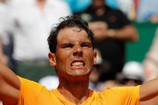 Tennis - ATP - Monte Carlo Masters - Monte-Carlo Country Club, Monte Carlo, Monaco - April 21, 2018 Spain's Rafael Nadal celebrates after winning his semi-final match against Bulgaria's Grigor Dimitrov REUTERS/Eric Gaillard
