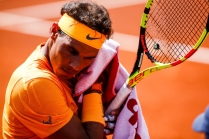 Rafael NADAL from Spain during the Barcelona Open Banc Sabadell 66º Trofeo Conde de Godo at Reial Club Tenis Barcelona on 25 of April of 2018 in Barcelona. (Photo by Xavier Bonilla/NurPhoto via Getty Images)