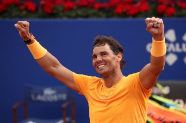 Tennis - ATP 500 - Barcelona Open - Real Club de Tenis Barcelona-1899, Barcelona, Spain - April 29, 2018 Spain's Rafael Nadal celebrates winning the final against Greece's Stefanos Tsitsipas REUTERS/Albert Gea