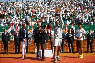 Rafael Nadal wins his 11th Monte Carlo Masters after beating Kei Nishikori (7)
