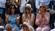 Rafael Nadal girlfriend Maria Francisca Perello sister Maria Isabel and mother Ana Maria Parera in Rome 2018 Italian Open final
