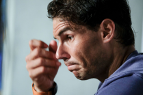 Rafael Nadal press conference during day seven of the Mutua Madrid Open tennis tournament at the Caja Magica on May 11, 2018 in Madrid, Spain (Photo by Oscar Gonzalez/NurPhoto via Getty Images)