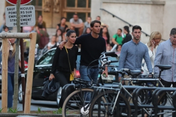 Rafael Nadal and girlfriend Maria Francisca Perello all smiles in Paris 2018