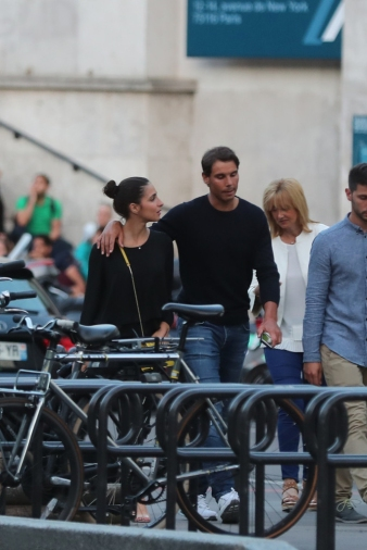 Rafael Nadal and girlfriend Maria Francisca Perello in Paris 2018 (1)