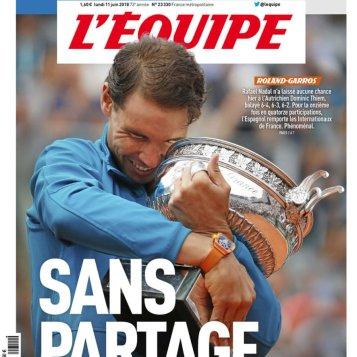 Rafael Nadal covers French newspaper LEquipe