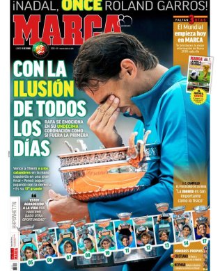 Rafael Nadal covers Spanish newspaper Marca