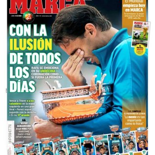 Rafael Nadal Covers Spanish Newspaper Marca