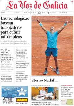 Rafael Nadal on front pages of newspapers across globe (1)