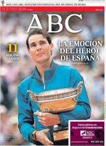 Rafael Nadal on front pages of newspapers across globe (2)