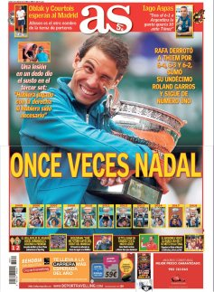 Rafael Nadal on front pages of newspapers across globe (4)