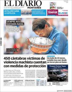 Rafael Nadal on front pages of newspapers across globe (6)