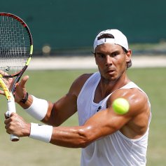 Tennis - Wimbledon Preview - All England Lawn Tennis and Croquet Club, London, Britain - July 1, 2018 Spain's Rafael Nadal during practice REUTERS/Peter Nicholls