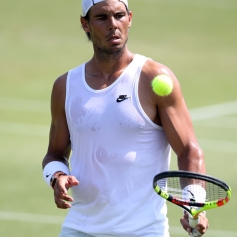 Rafael Nadal during practice ahead of the 2018 Wimbledon Championships at The All England Lawn Tennis and Croquet Club, Wimbledon.at the All England Lawn Tennis and Croquet Club, Wimbledon. (Photo by John Walton/PA Images via Getty Images)