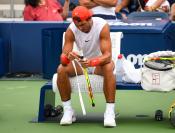 Rafael Nadal practices in New York City 2018 US Open photo (4)