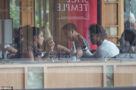rafael nadal having lunch with girlfriend maria francisca perello in melbourne 2019 australia