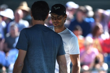Rafael Nadal (ESP) and Roger Federer (SUI) before their practice at the 2018 Indian Wells Masters 1000 at Indian Wells Tennis Garden, California, USA, on March, 7, 2019., Image: 418004223, License: Rights-managed, Restrictions: , Model Release: no, Credit line: Profimedia, Abaca Press