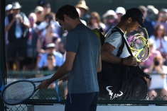 Rafael Nadal (ESP) and Roger Federer (SUI) before their practice at the 2018 Indian Wells Masters 1000 at Indian Wells Tennis Garden, California, USA, on March, 7, 2019., Image: 418004216, License: Rights-managed, Restrictions: , Model Release: no, Credit line: Profimedia, Abaca Press