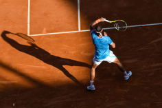 Rafael Nadal of Spain during the 2019 Monte Carlo Rolex Masters 1000, day one, on April 19, 2019 in Monaco, Monaco. (Photo by Pascal Della Zuana/Icon Sport via Getty Images)