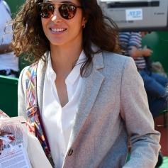 Maria Francisca Perello, la fiancée de Rafael Nadal, durant la rencontre Rafael Nadal contre Roberto Bautista Agut sur le court Rainier III durant le Rolex Monte Carlo Masters 2019 ŕ Roquebrune Cap Martin, le 17 avril 2019. Rafael Nadal s'est qualifié en battant son compatriote 6-1 / 6-1. © Bruno Bebert / Bestimage Nadal vs Agut (6-1 / 6-1)during Monte Carlo Rolex Masters 2019 at Roquebrune Cap Martin on april 17th 209, Image: 426570058, License: Rights-managed, Restrictions: , Model Release: no, Credit line: Profimedia, Bestimages