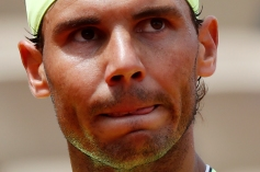 Tennis - French Open - Roland Garros, Paris, France - May 29, 2019. Spain's Rafael Nadal looks on during his second round match against Germany's Yannick Maden. REUTERS/Christian Hartmann