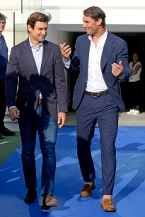 Rafa Nadal and David Ferrer during graduation ceremony Rafa Nadal Academy in Manacor, Mallorca on Tuesday 11 June 2019.