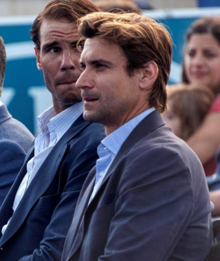 Spanish tennis players Rafa Nadal (L) and David Ferrer (R) attend the graduation ceremony of Rafa Nadal Academy, students of American International School of Mallorca, in Manacor, Balearic Islands, Spain, 11 June 2019. Rafa Nadal Academy graduation ceremony !ACHTUNG: NUR REDAKTIONELLE NUTZUNG! PUBLICATIONxINxGERxSUIxAUTxONLY Copyright: xCATIxCLADERAx GRAF6892 20190611-636958846285016923