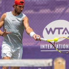 Spanish tennis player Rafa Nadal attends a training session at Country Club in Santa Ponsa, Majorca, Spain, as he prepares for Wimbledon, 21 June 2019. Rafa Nadal attends training session !ACHTUNG: NUR REDAKTIONELLE NUTZUNG! PUBLICATIONxINxGERxSUIxAUTxONLY Copyright: xCATIxCLADERAx GRAF2284 20190621-636967311724782828