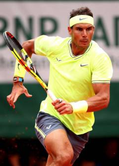 PARIS, FRANCE - JUNE 09: Rafael Nadal of Spain during the mens singles final against Dominic Thiem of Austria during Day fifteen of the 2019 French Open at Roland Garros on June 09, 2019 in Paris, France. (Photo by Clive Brunskill/Getty Images)