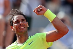Rafael Nadal of Spain reacts after winning against Juan Ignacio Londero of Argentina their men's round of 16 match during the French Open tennis tournament at Roland Garros in Paris, France, 02 June 2019. EPA-EFE/, Image: 441808356, License: Rights-managed, Restrictions: , Model Release: no, Credit line: Profimedia, TEMP EPA
