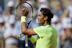 Spain's Rafael Nadal celebrates after winning against Argentina's Juan Ignacio Londero during their men's singles fourth round match on day eight of The Roland Garros 2019 French Open tennis tournament in Paris on June 2, 2019. (Photo by Thomas SAMSON / AFP) (Photo credit should read THOMAS SAMSON/AFP/Getty Images)