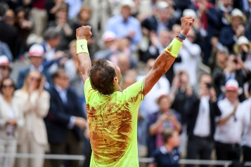 Rafael Nadal (SPA) celebrates his victory during the men Final of Roland Garros on June 9, 2019 in Paris, France. (Photo by Anthony Dibon/Icon Sport via Getty Images)