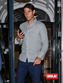 Rafael Nadal celebrates winning Roland Garros 2019 at dinner in Paris