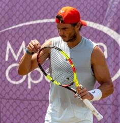 Spanish tennis player Rafa Nadal attends a training session at Country Club in Santa Ponsa, Majorca, Spain, as he prepares for Wimbledon, 21 June 2019. Rafa Nadal attends training session !ACHTUNG: NUR REDAKTIONELLE NUTZUNG! PUBLICATIONxINxGERxSUIxAUTxONLY Copyright: xCATIxCLADERAx GRAF2288 20190621-636967311742282821