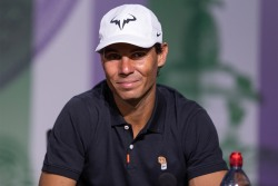 Rafael Nadal (ESP) gives his pre-Championships press conference in the Main Interview Room. The Championships 2019. Held at The All England Lawn Tennis Club, Wimbledon. Day -2 Saturday 29/06/2019. Credit: AELTC/David Gray