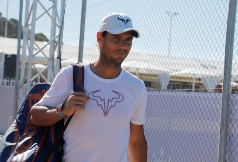 CALVIA, SPAIN - JUNE 17: Rafa Nadal arrives to train in the tracks of Santa Ponsa tennis club during the WTA Mallorca tennis tournament on June 17, 2019 in CALVIA, Spain. (Photo by Clara Margais/Getty Images)
