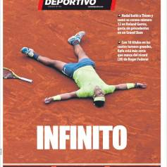 Rafael Nadal's Roland Garros Victory On Newspaper Front Pages (12)
