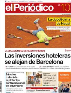 Rafael Nadal's Roland Garros Victory On Newspaper Front Pages (14)