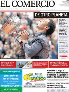 Rafael Nadal's Roland Garros Victory On Newspaper Front Pages (27)