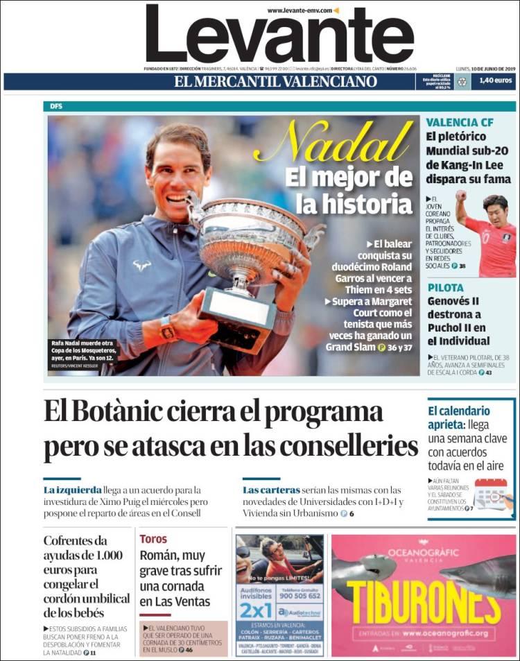 Roland Garros Calendario.Rafael Nadal S Roland Garros Victory On Newspaper Front