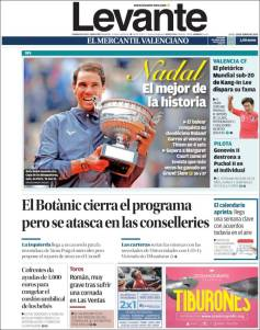 Rafael Nadal's Roland Garros Victory On Newspaper Front Pages (29)