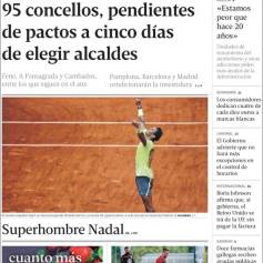 Rafael Nadal's Roland Garros Victory On Newspaper Front Pages (30)