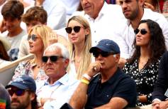 PARIS, FRANCE - JUNE 09: Xisca Perello, Fiancé, María Isabel Nadal, Sister and Ana María Parera, Mother of Rafael Nadal of Spain watch on during his mens singles final against Dominic Thiem of Austria during Day fifteen of the 2019 French Open at Roland Garros on June 09, 2019 in Paris, France. (Photo by Clive Brunskill/Getty Images)