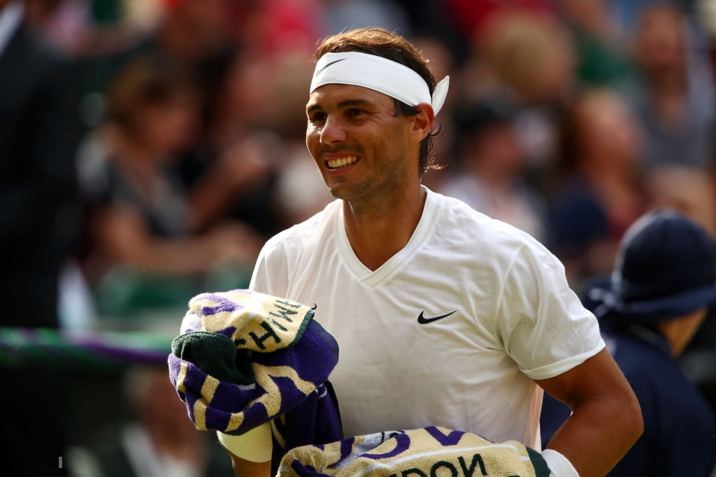 Rafael Nadal all smiles second round Wimbledon match vs ...